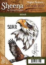 Sheena Douglas - Perfect Partners - Call of the Wild Rubber Rubber Stamp - Soar